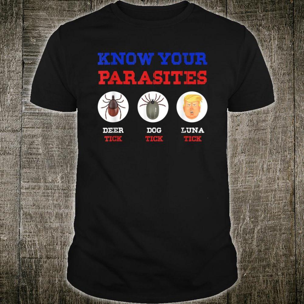 Know Your Parasites Anti Trump 86 45 Shirt