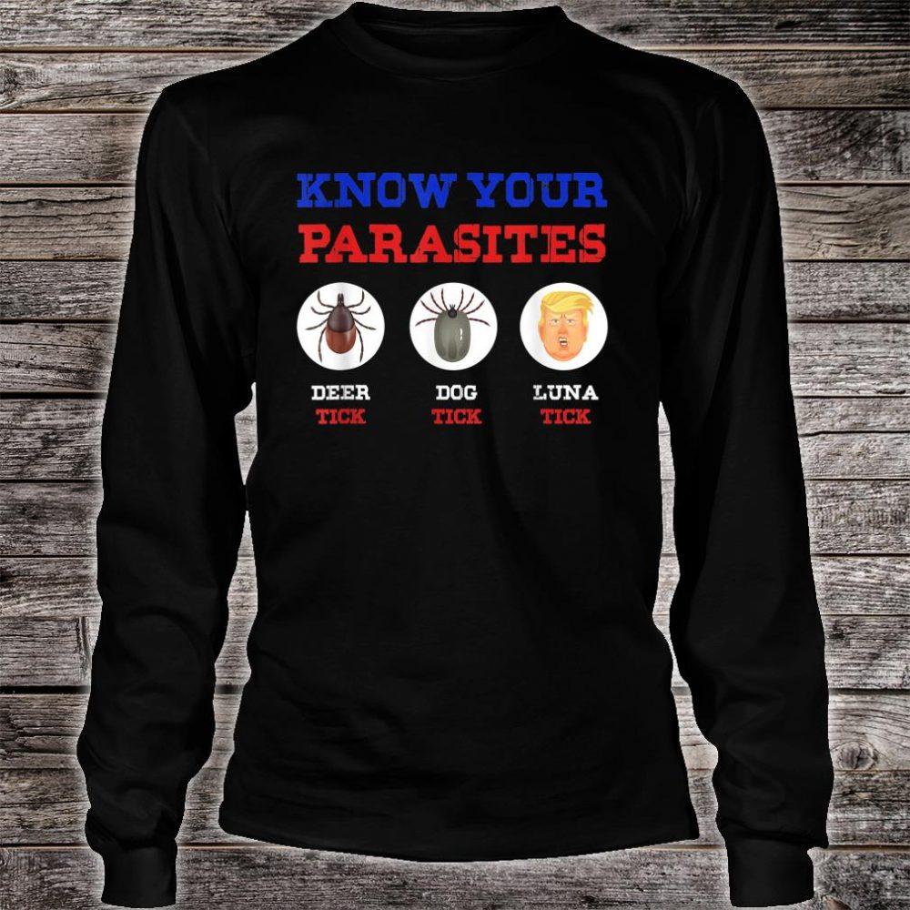 Know Your Parasites Anti Trump 86 45 Shirt long sleeved