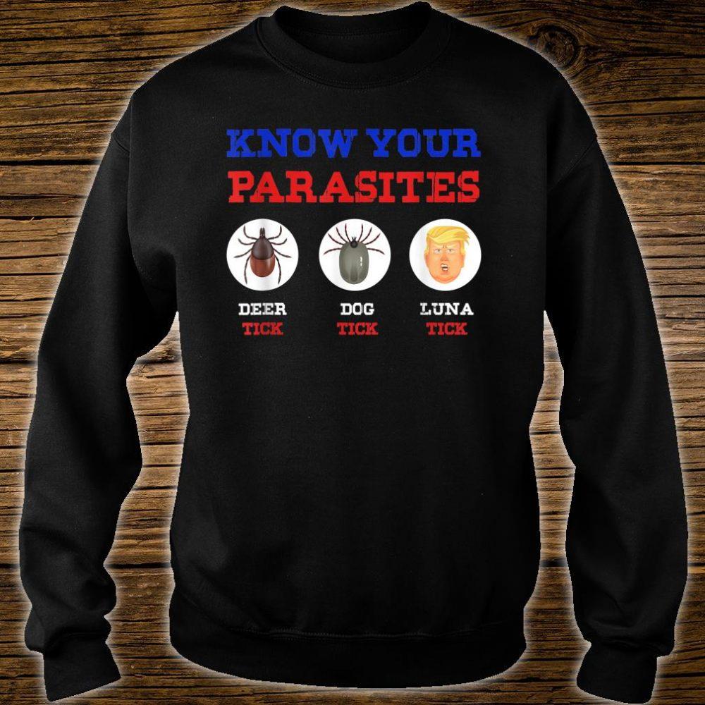 Know Your Parasites Anti Trump 86 45 Shirt sweater