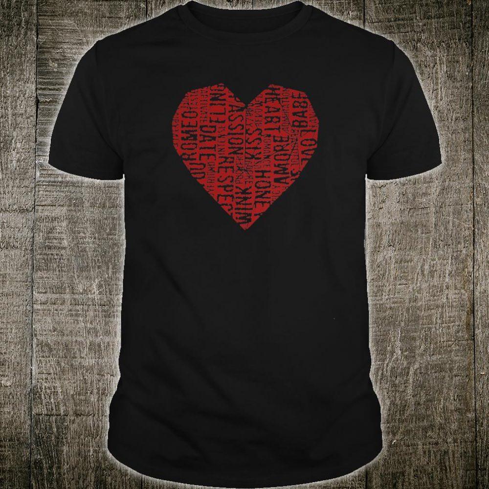 Langley Six Valentine's Love Heart Diamond Shirt