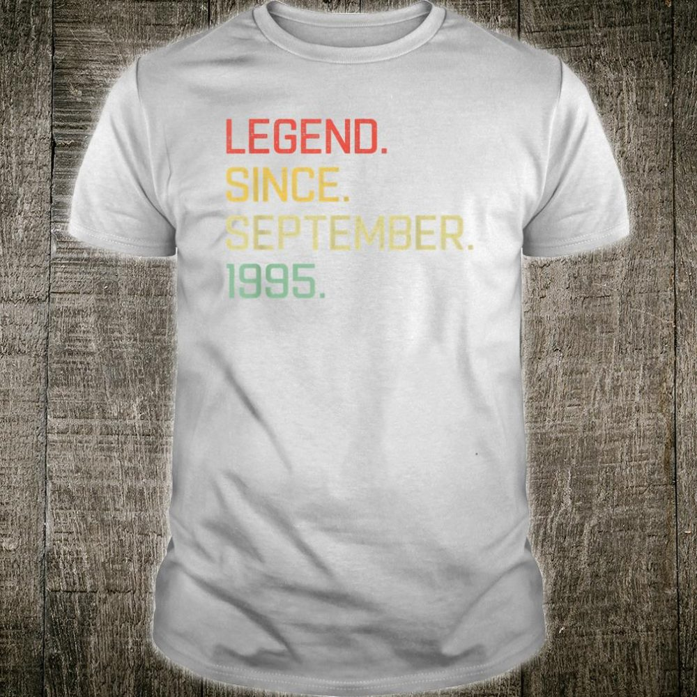 Legend Since September 1995 Tee 25th Birthday Gift 25th Bday Shirt