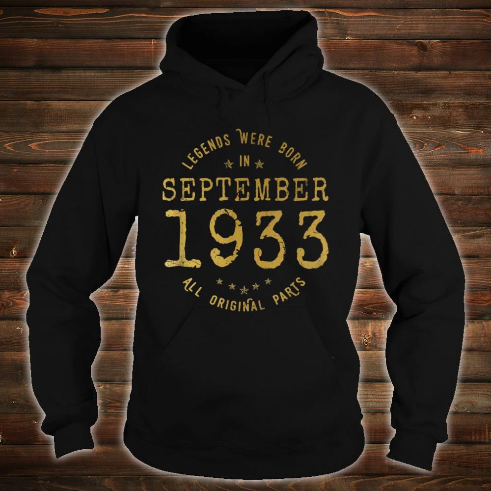 Legends Were Born In September 1933 Vintage 87th Birthday Shirt hoodie
