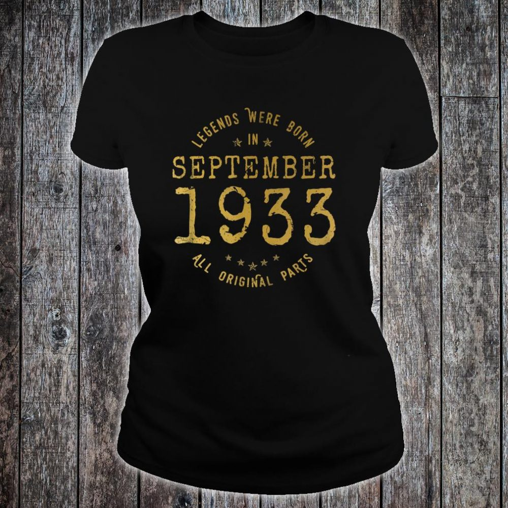 Legends Were Born In September 1933 Vintage 87th Birthday Shirt ladies tee