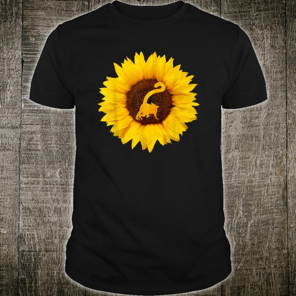 Lemur Primate Animal Sunflower Shirt