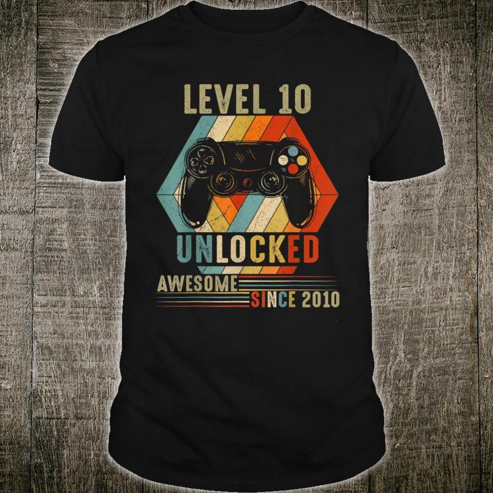 Level 10 Unlocked Awesome Since 2010 Shirt