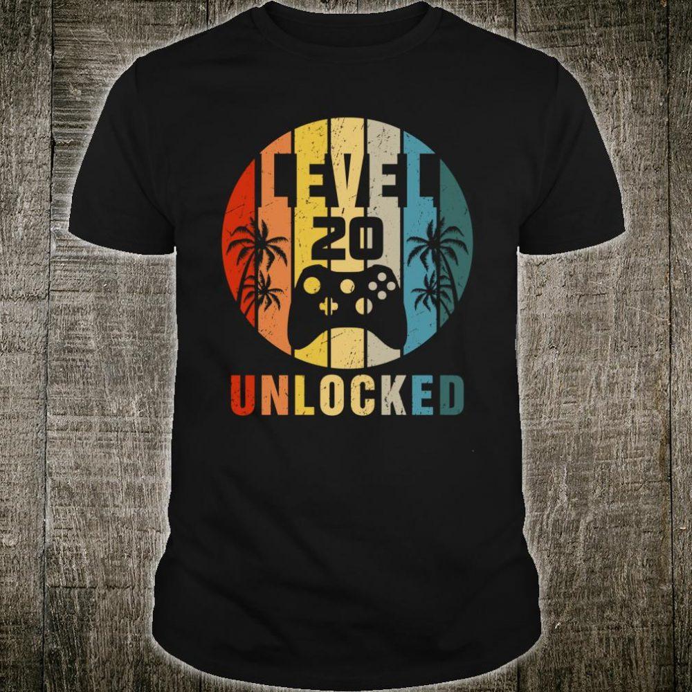 Level 20 Unlocked Retro Shirt
