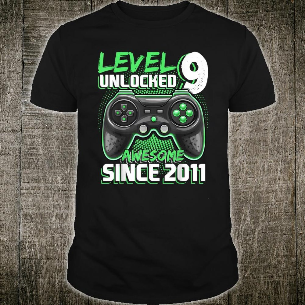 Level 9 Unlocked Awesome 2011 Shirt