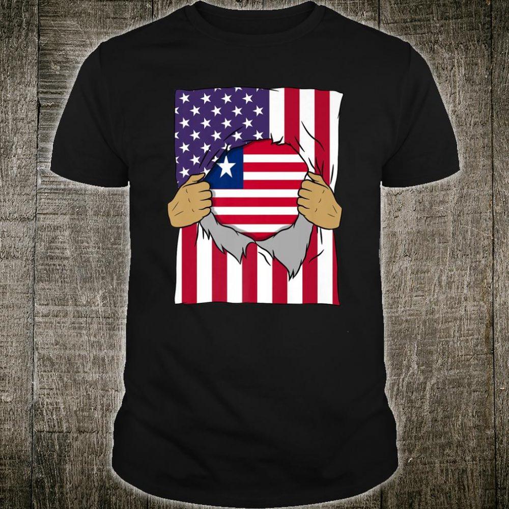 Liberia Flag Inside Me Home Pride Liberian American Shirt