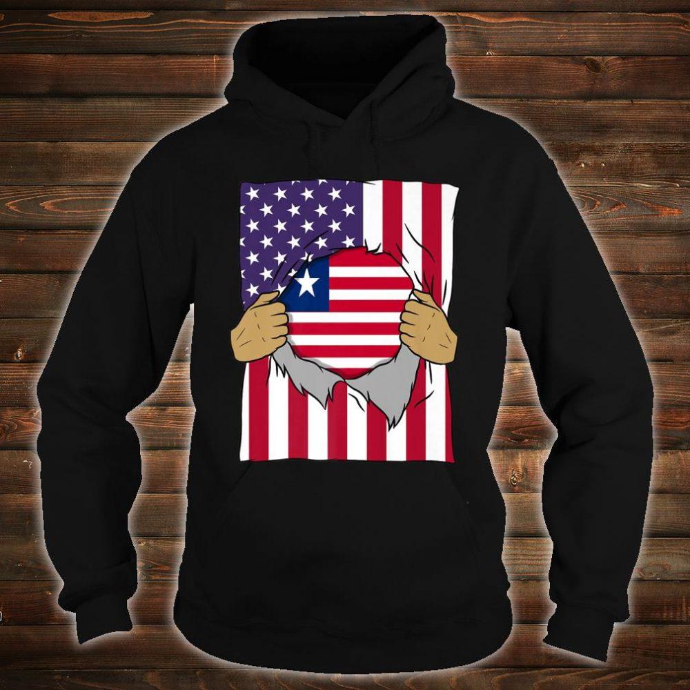 Liberia Flag Inside Me Home Pride Liberian American Shirt hoodie