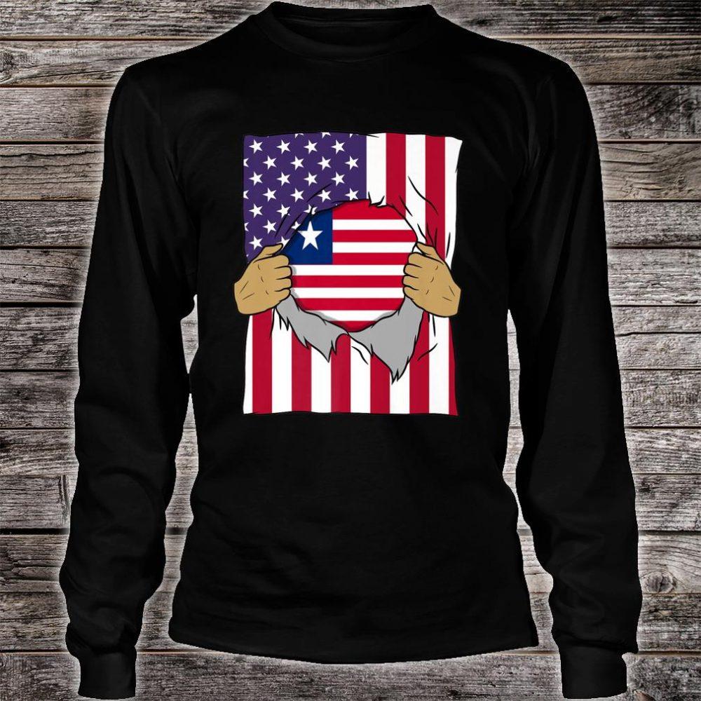 Liberia Flag Inside Me Home Pride Liberian American Shirt long sleeved