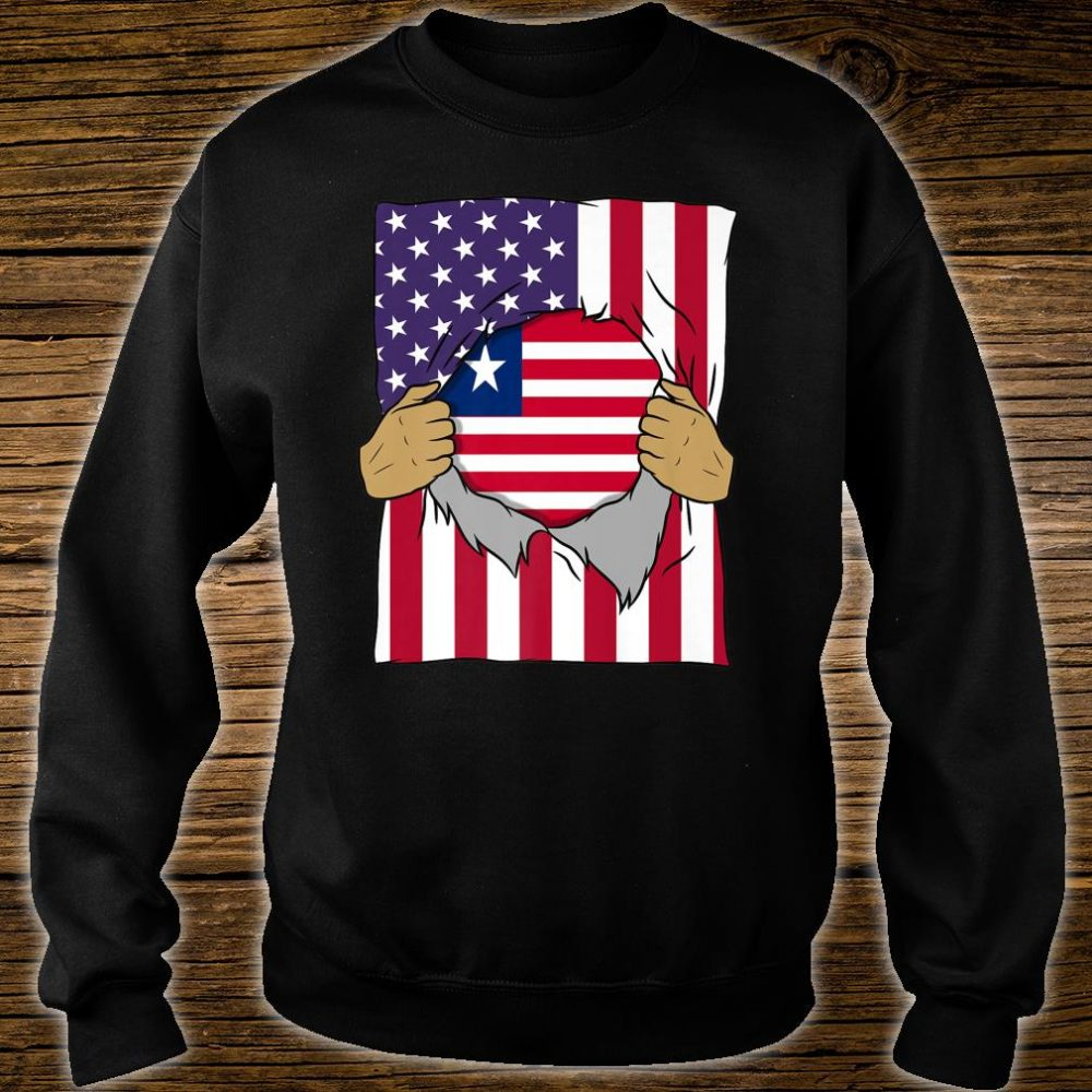 Liberia Flag Inside Me Home Pride Liberian American Shirt sweater