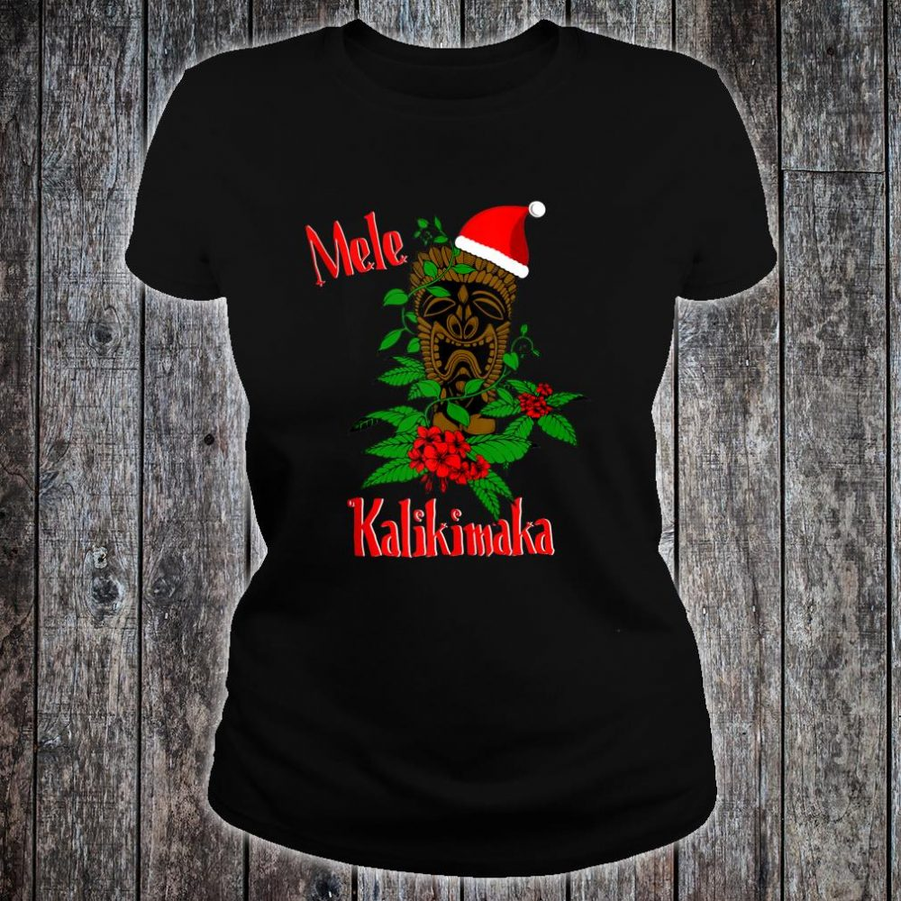 Mele Kalikimaka Hawaiian Ohana Celebration Christmas Shirt ladies tee