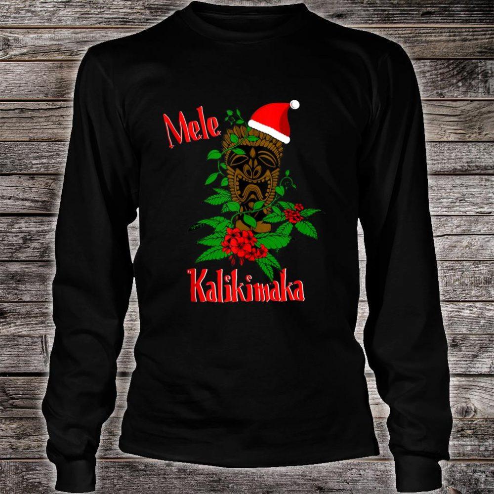 Mele Kalikimaka Hawaiian Ohana Celebration Christmas Shirt long sleeved