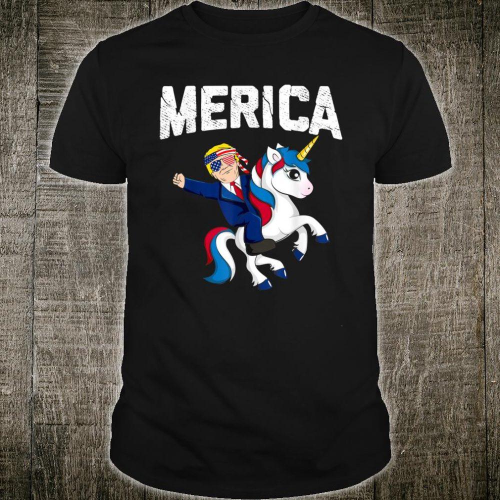 Merica Trump Riding Unicorn Shirt