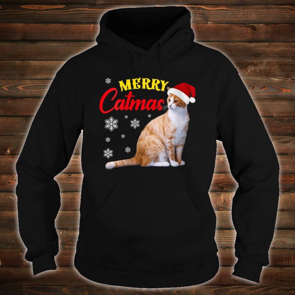 Merry Catmas Christmas Cat Santa Hat Shirt hoodie