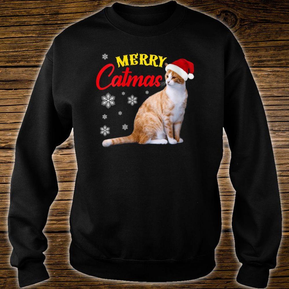 Merry Catmas Christmas Cat Santa Hat Shirt sweater