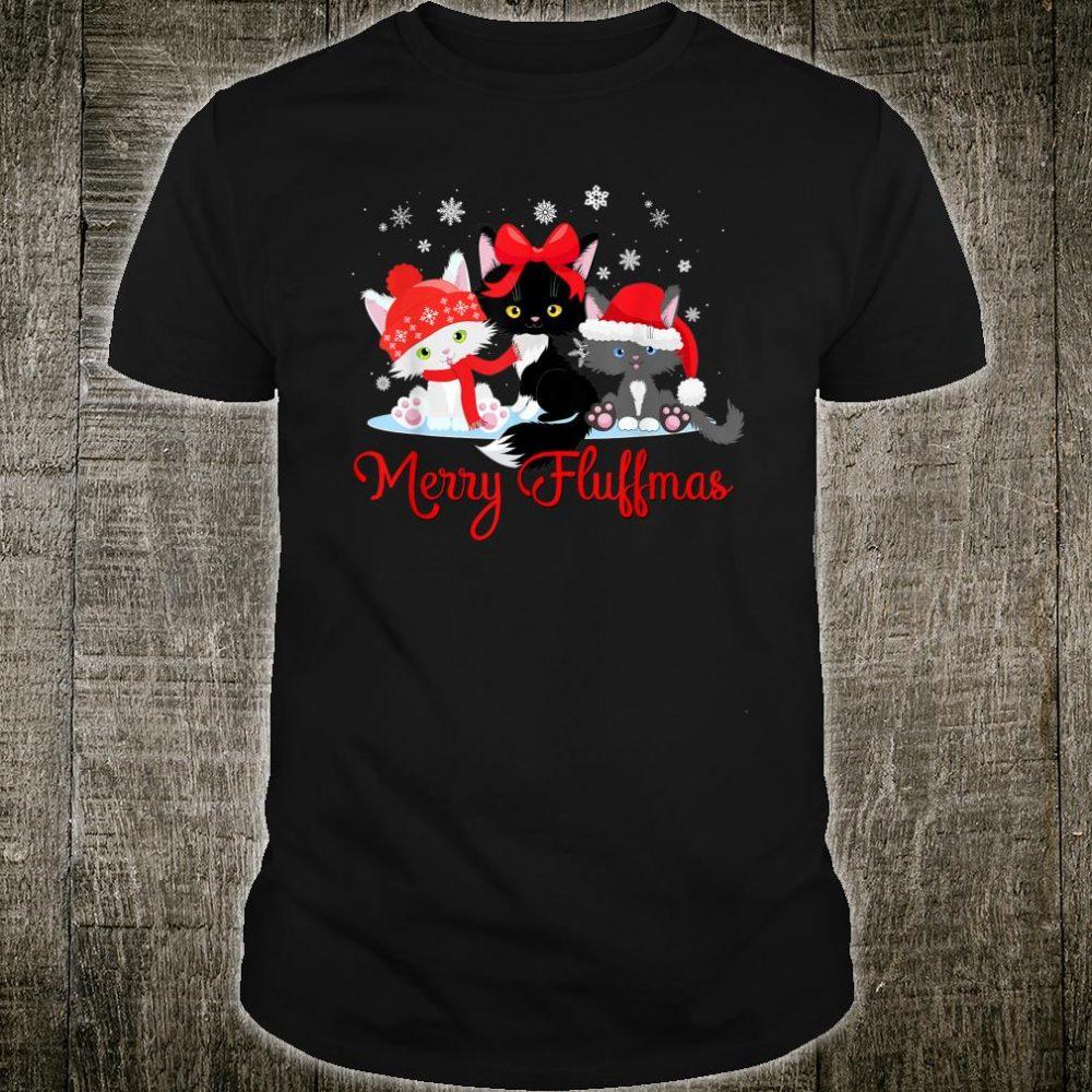 Merry Fluffmas Cute Cats Christmas Shirt