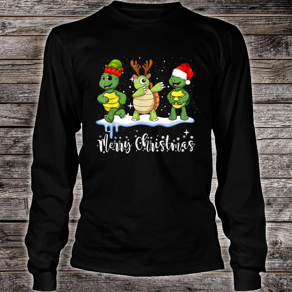 Merry Turtle Christmas Shirt long sleeved