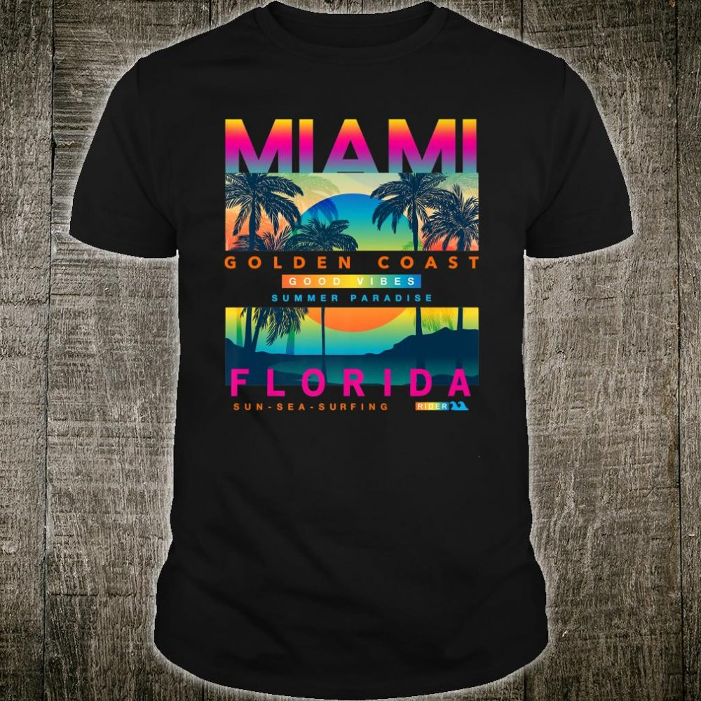 Miami Golden Coast Sunrise Shirt