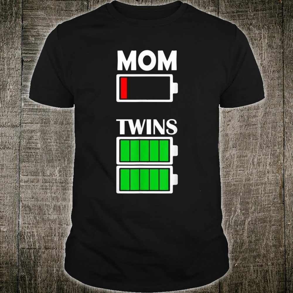 Mom Twins Low Battery Shirt