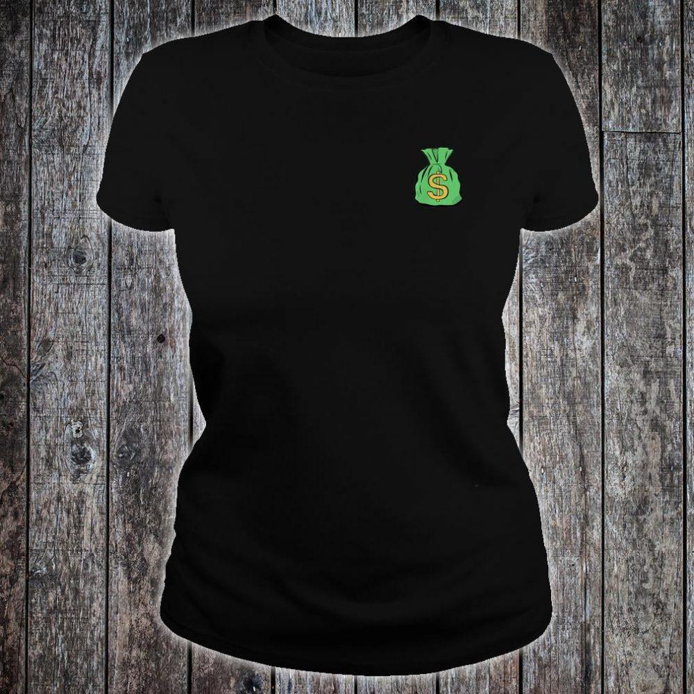 Money Bag Hand Illustrated Shirt ladies tee