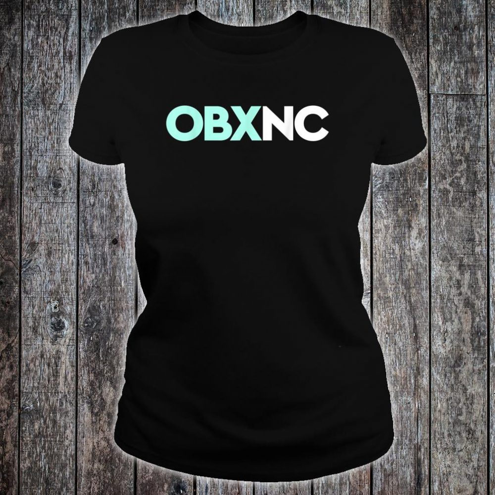 OBX NC Outer Banks North Carolina Travel Vacation Beach Shirt ladies tee