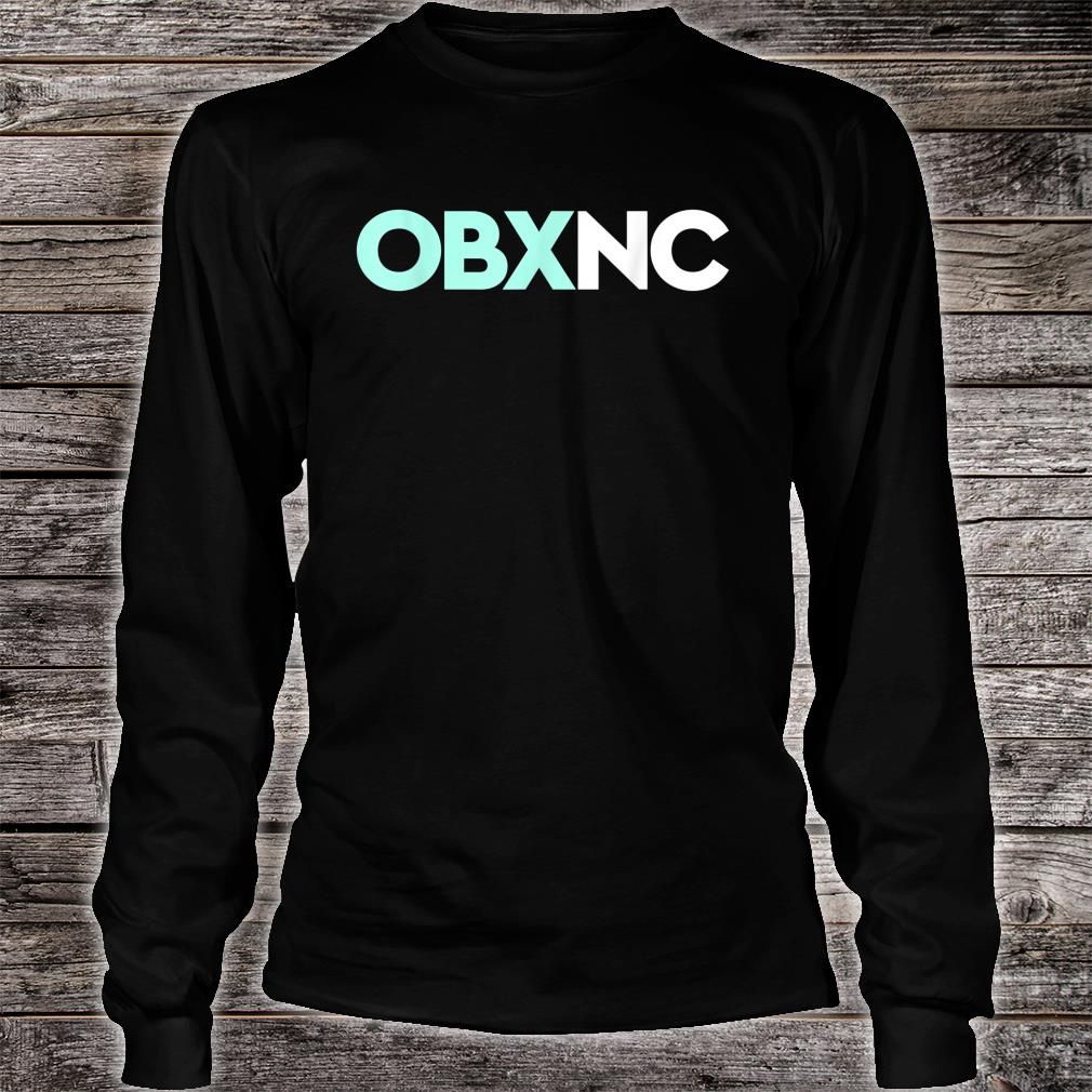 OBX NC Outer Banks North Carolina Travel Vacation Beach Shirt Long sleeved