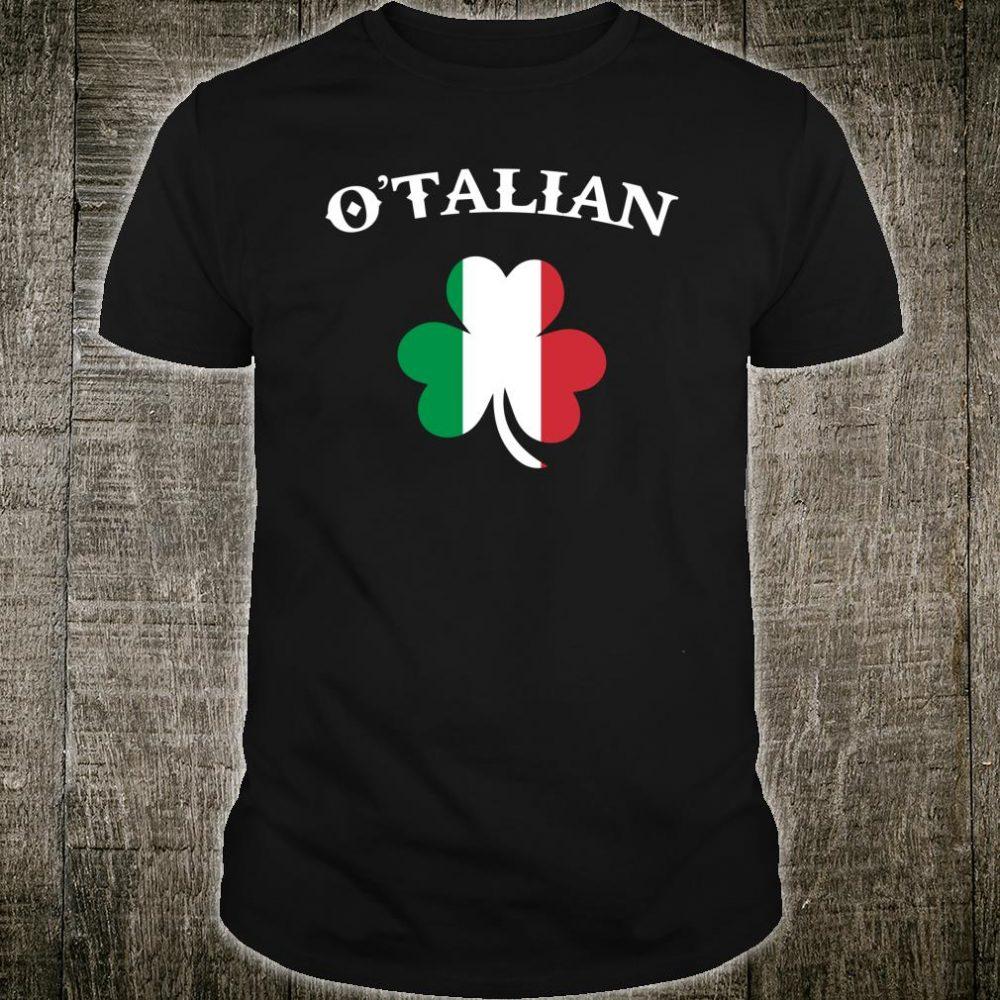 O'Talian Italian Irish St. Patrick's Day Clover Shirt