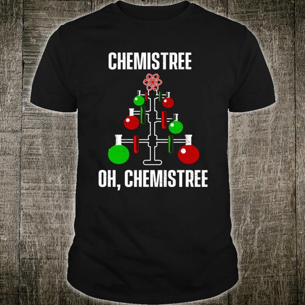 Oh Chemist Tree Chemistree Pun Science Chemistry Xmas Shirt