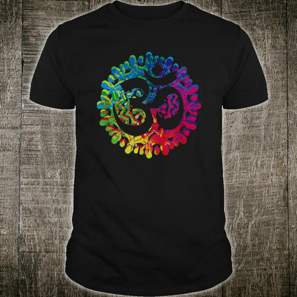 Om Mandalas Yoga Instructor Meditation Rainbow Shirt