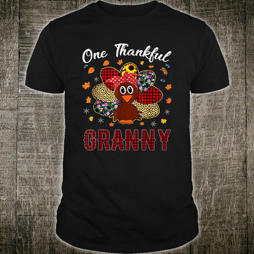 One Thankful Granny Happy Thanksgiving Turkey Shirt