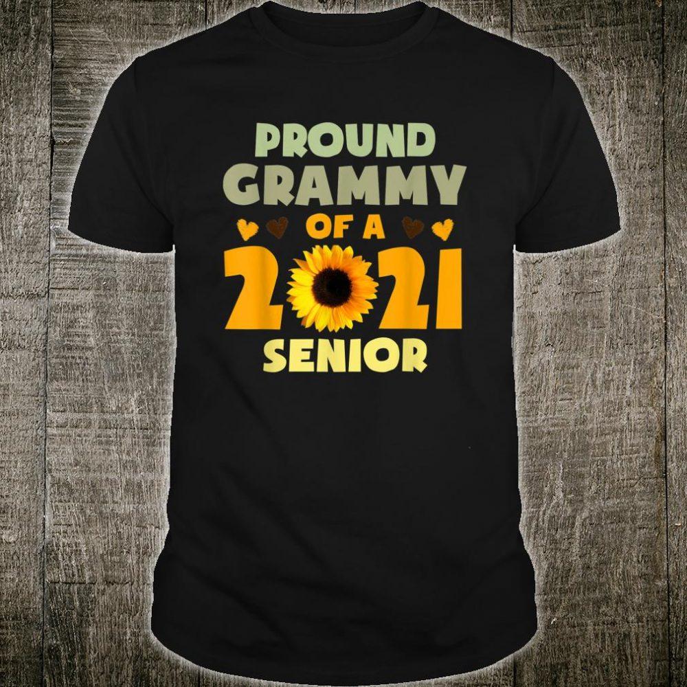 Proud Grammy Of A 2021 Senior Sunflower Shirt