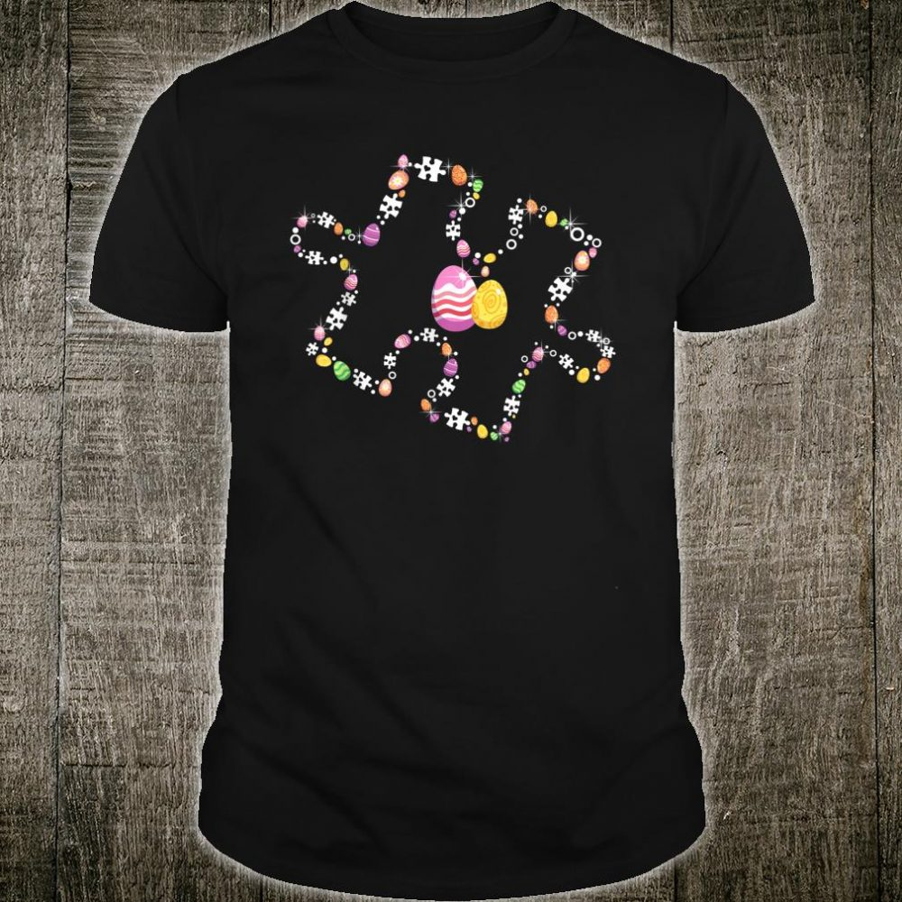 Puzzle Piece With Easter Eggs Autism Awareness Easter Shirt