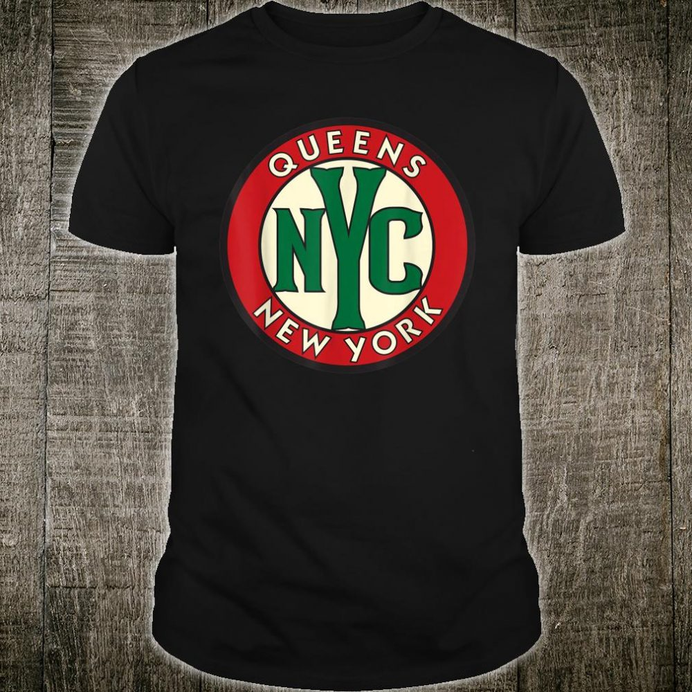 Queens NY Vintage Road Sign Shirt