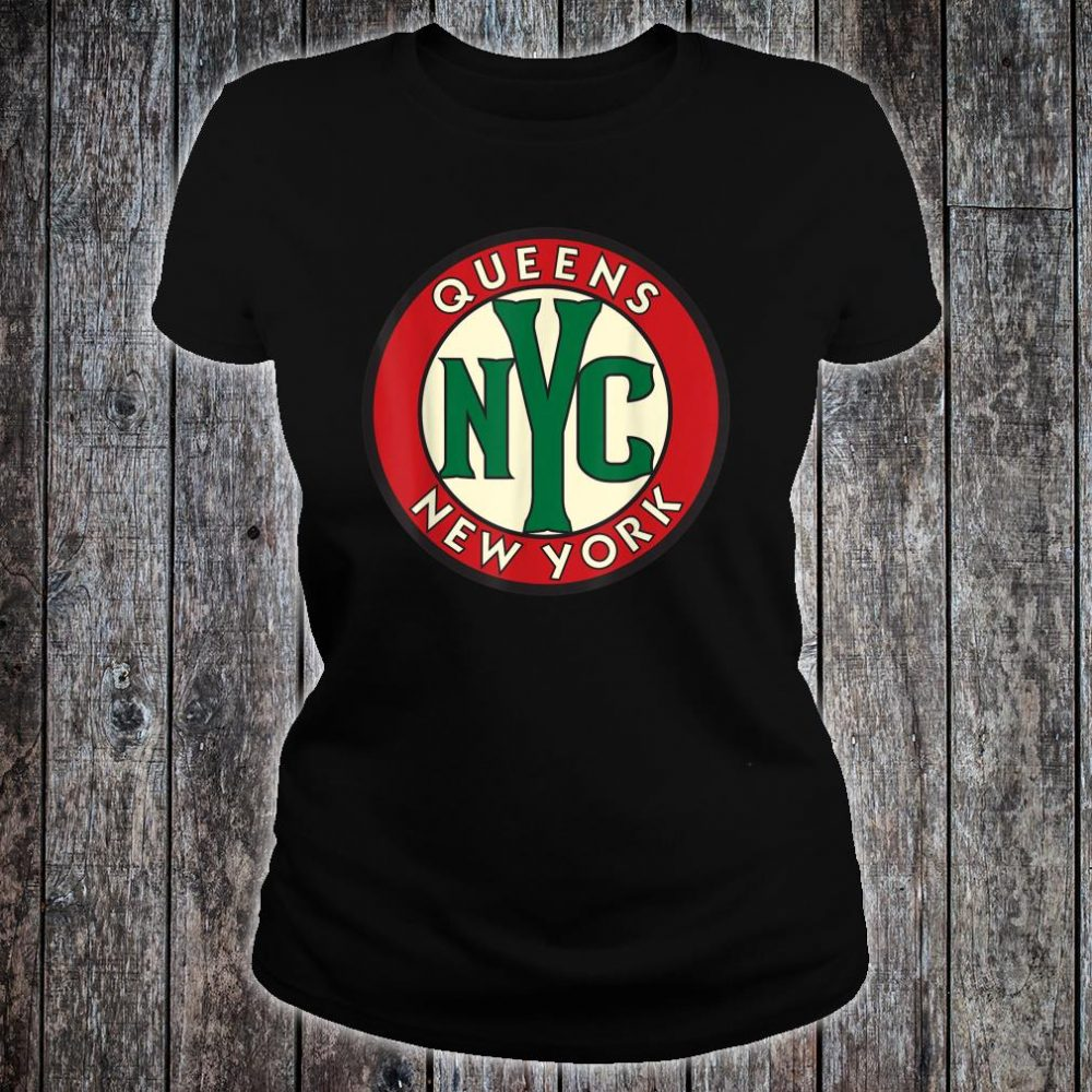 Queens NY Vintage Road Sign Shirt ladies tee