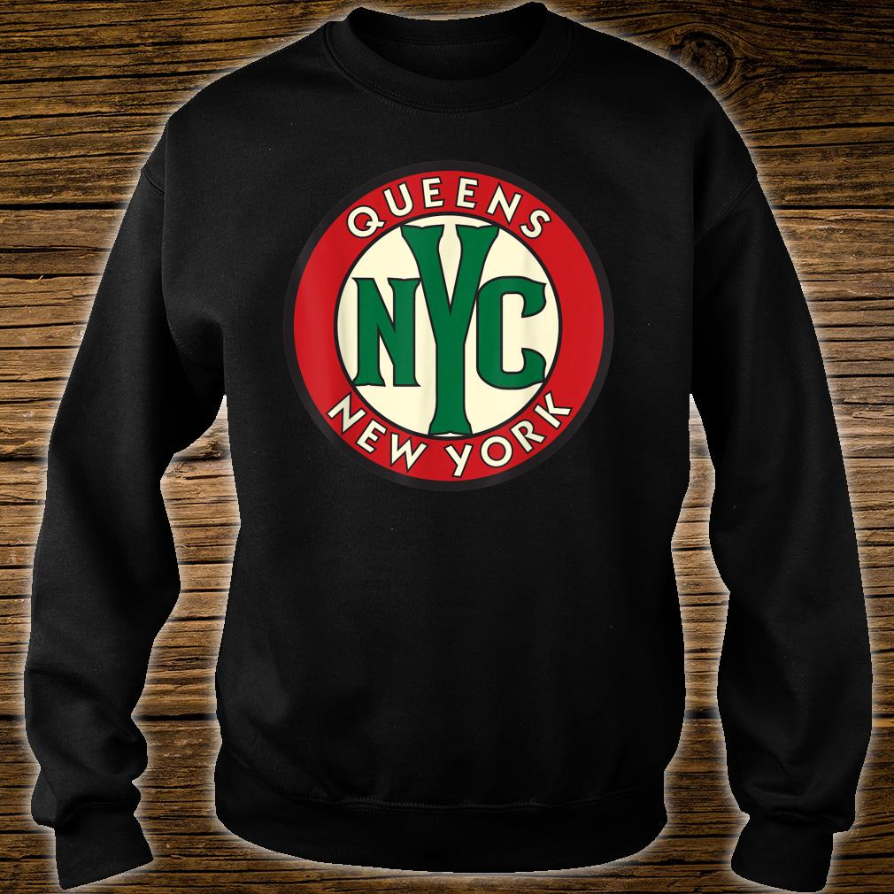 Queens NY Vintage Road Sign Shirt sweater
