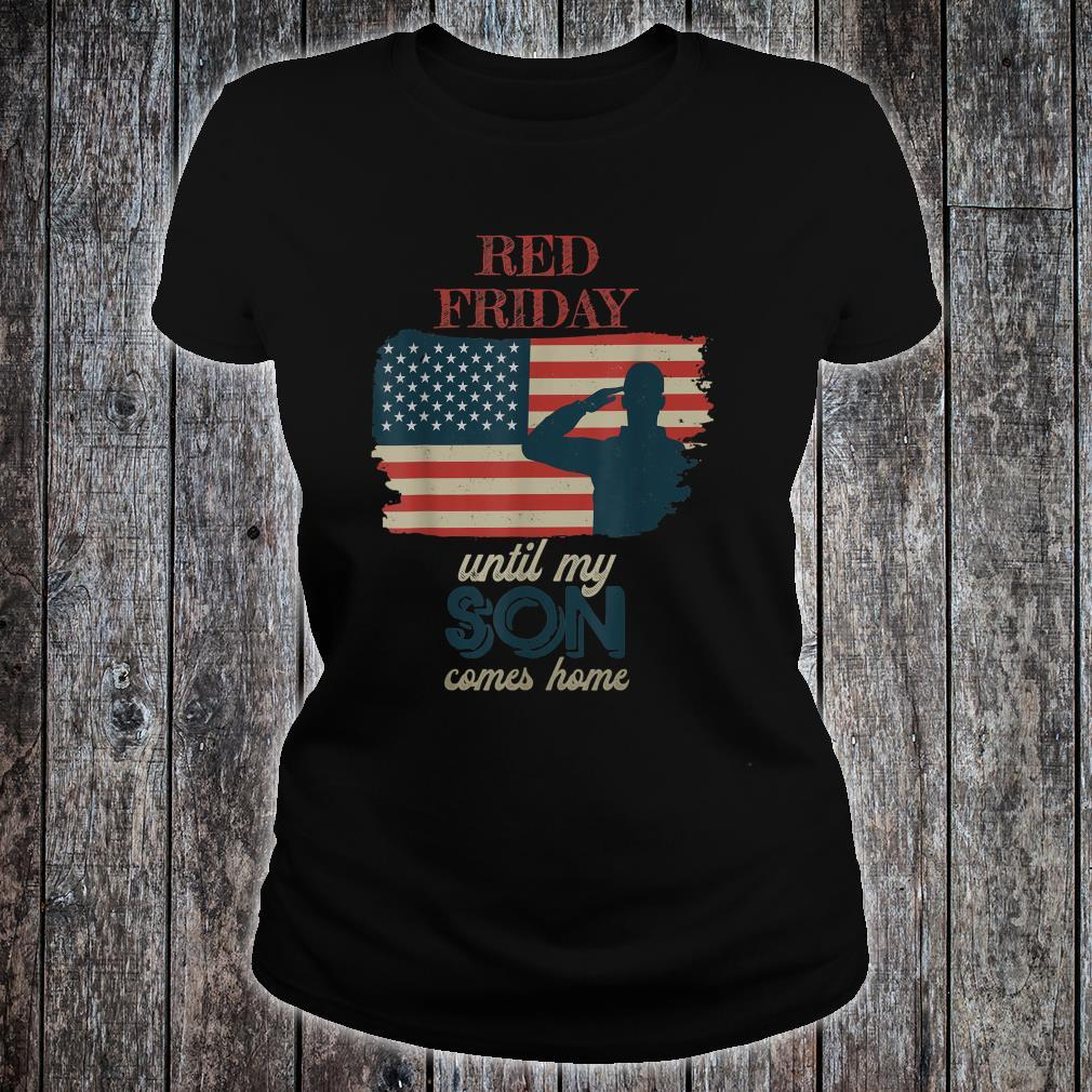 Red Friday Deploy Army Heroes Tribute Shirt ladies tee