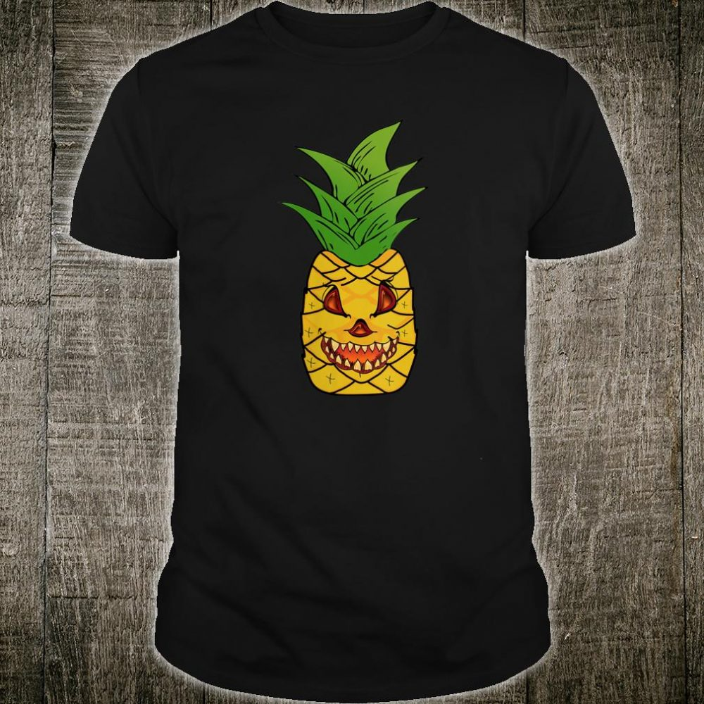 Scary Pineapple Halloween Matching Fruit Funny Costume Shirt