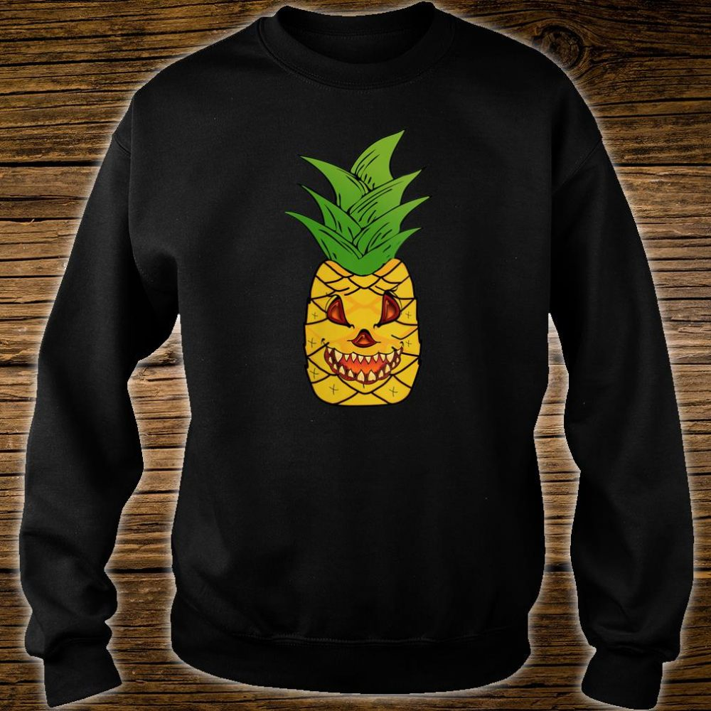 Scary Pineapple Halloween Matching Fruit Funny Costume Shirt sweater