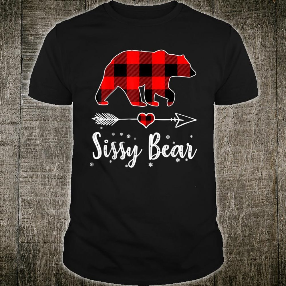 Sissy Bear Red Plaid Christmas Pajama Family Shirt