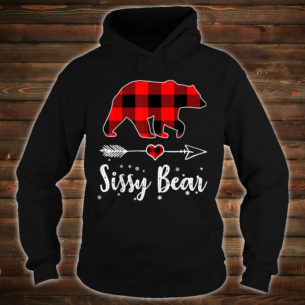 Sissy Bear Red Plaid Christmas Pajama Family Shirt hoodie