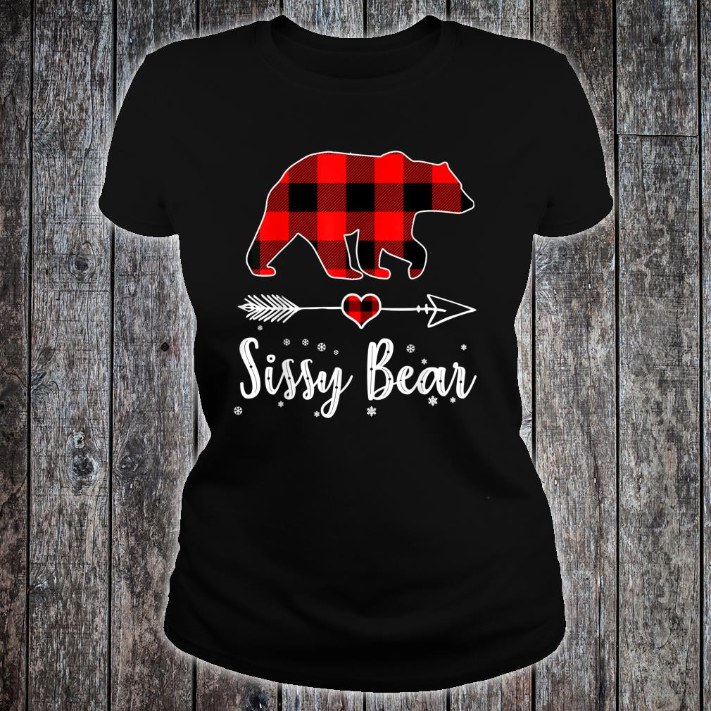 Sissy Bear Red Plaid Christmas Pajama Family Shirt ladies tee