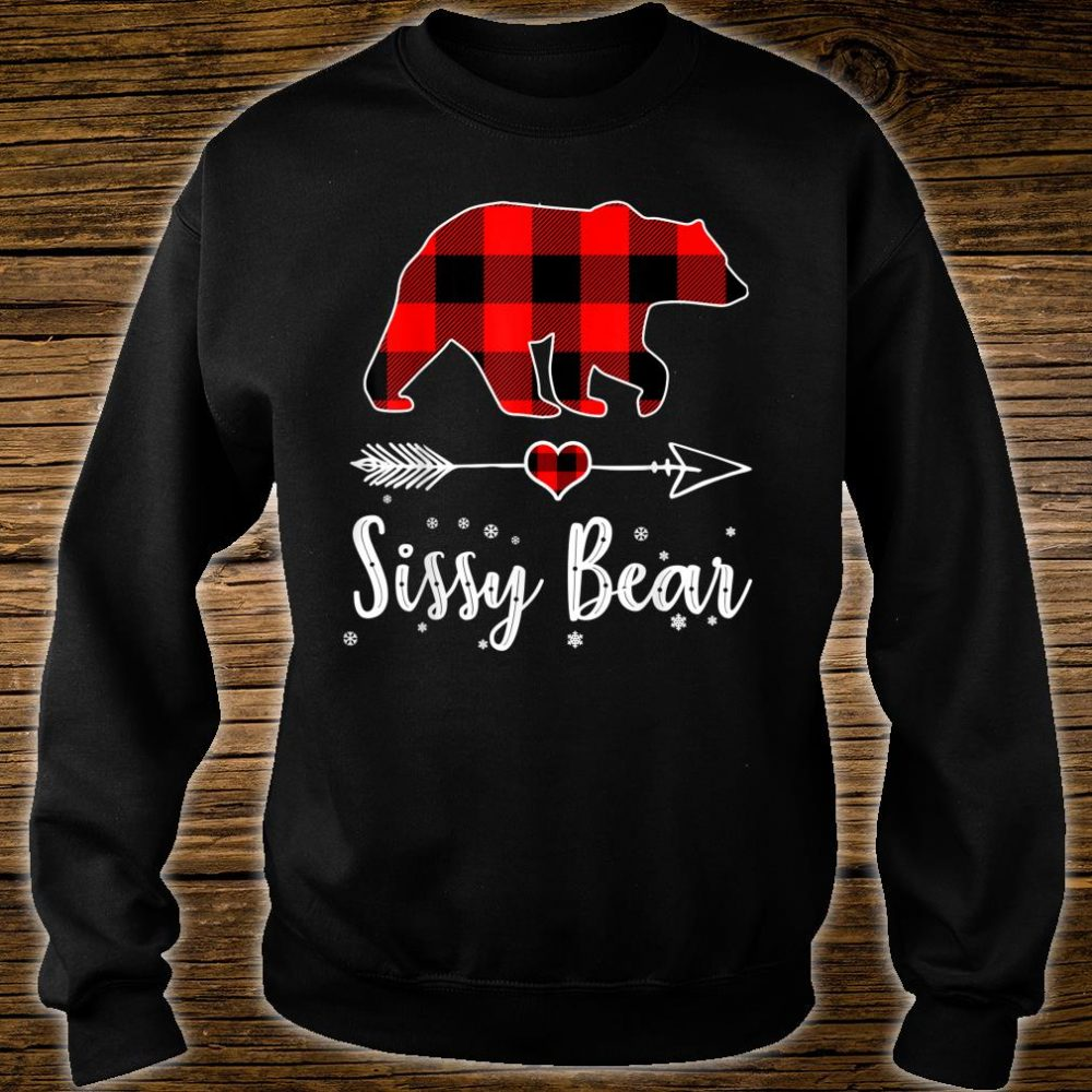 Sissy Bear Red Plaid Christmas Pajama Family Shirt sweater