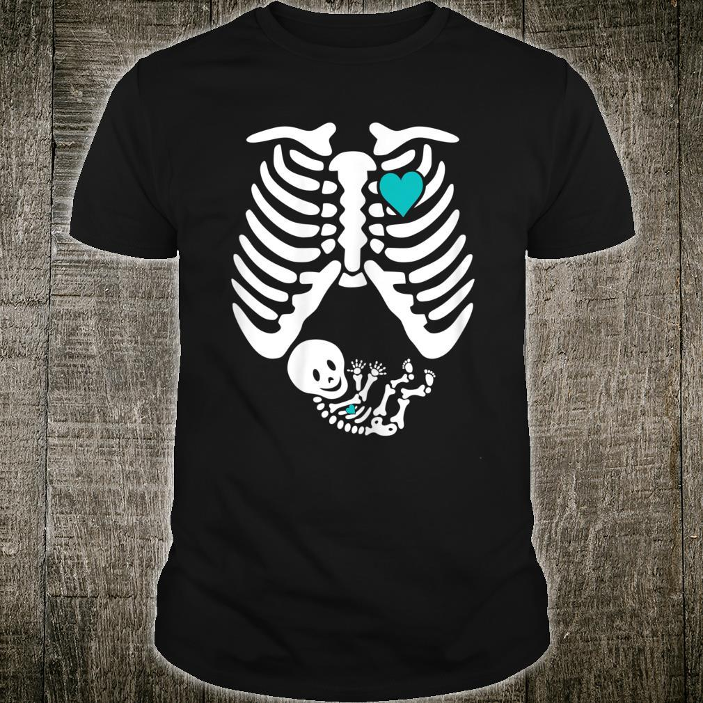 Skeleton Pregnancy A Baby Boy Xray Halloween Soon Mom Shirt