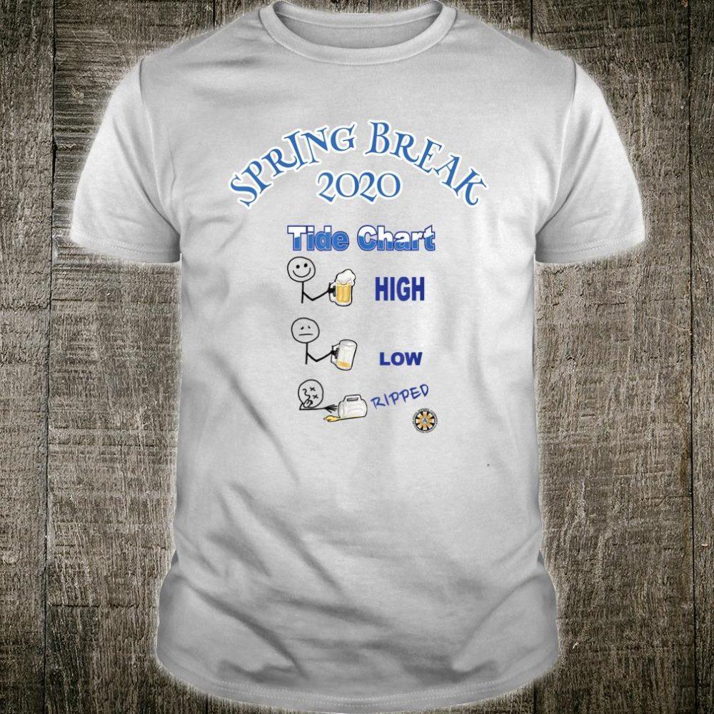 Spring Breaker Tide Chart Shirt
