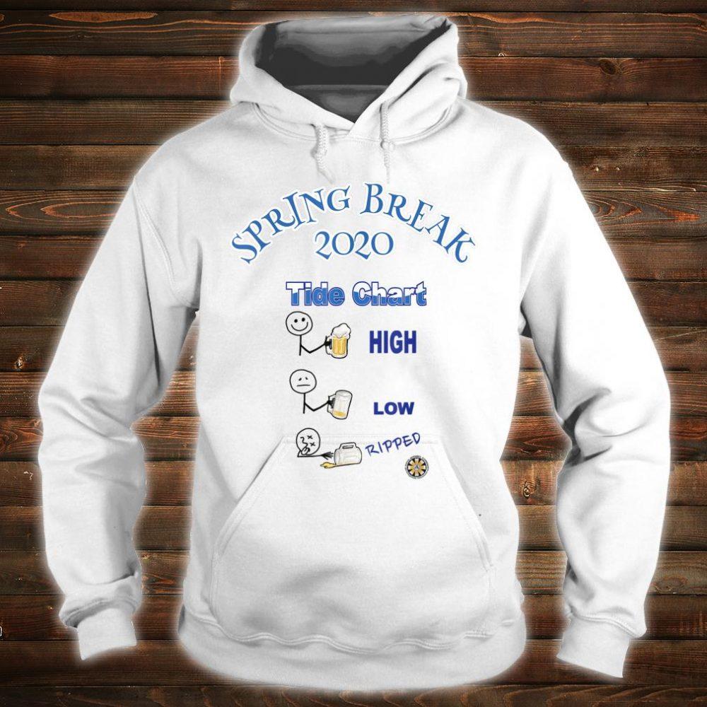 Spring Breaker Tide Chart Shirt hoodie