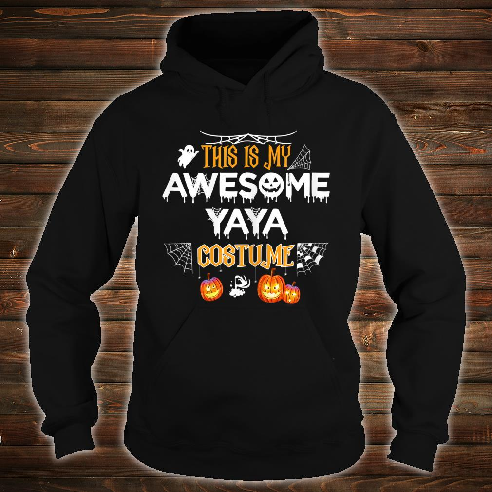 This Is My Awesome Grandma Yaya Costume Halloween Shirt hoodie
