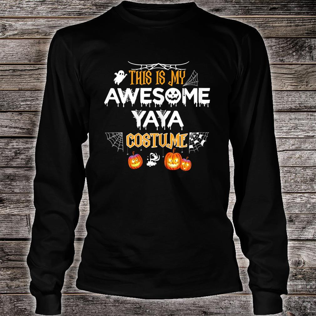 This Is My Awesome Grandma Yaya Costume Halloween Shirt long sleeved