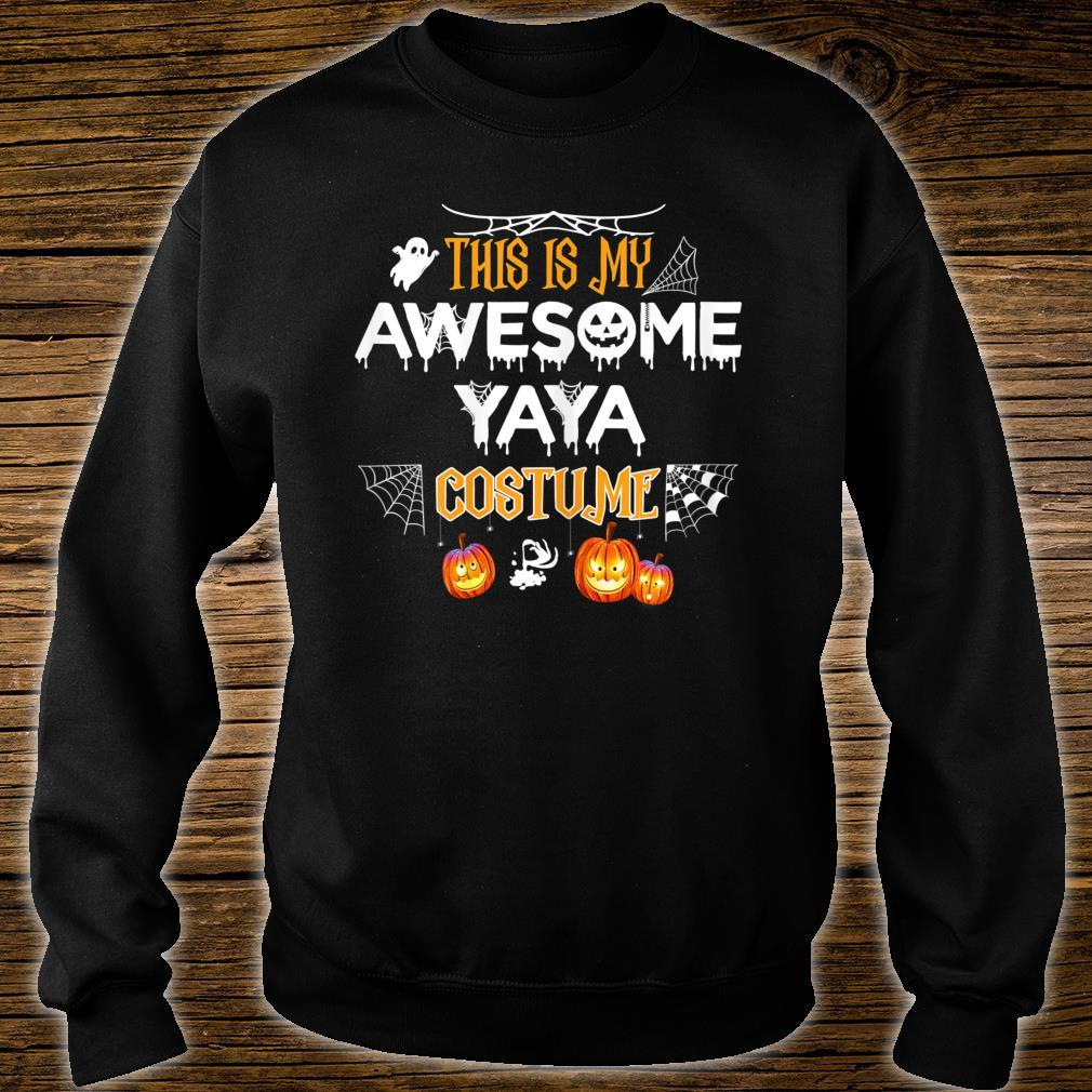 This Is My Awesome Grandma Yaya Costume Halloween Shirt sweater