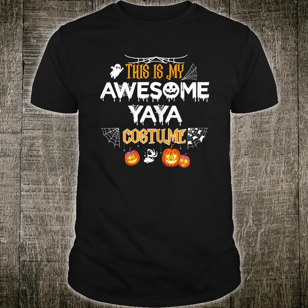 This Is My Awesome Grandma Yaya Costume Halloween Shirt